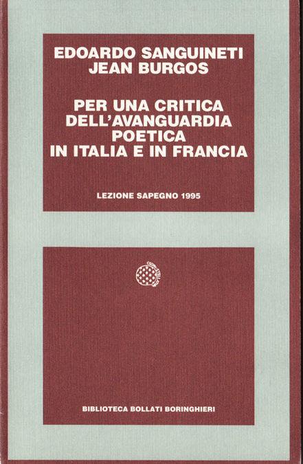 Giornata Sapegno 1995: Lezione magistrale di Edoardo Sanguineti e Jean Burgos