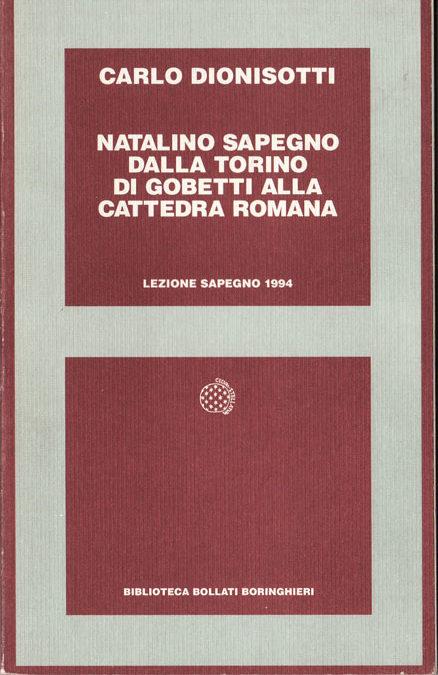 Giornata Sapegno 1994: Lezione magistrale di Carlo Dionisotti