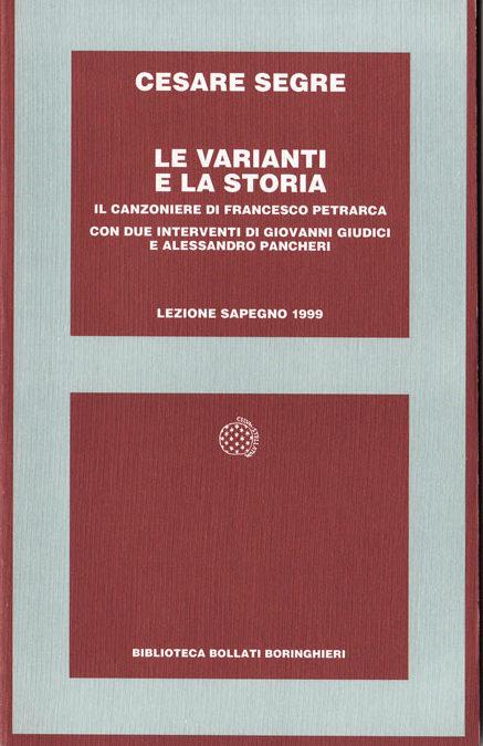 Giornata Sapegno 1999: Lezione magistrale di Cesare Segre