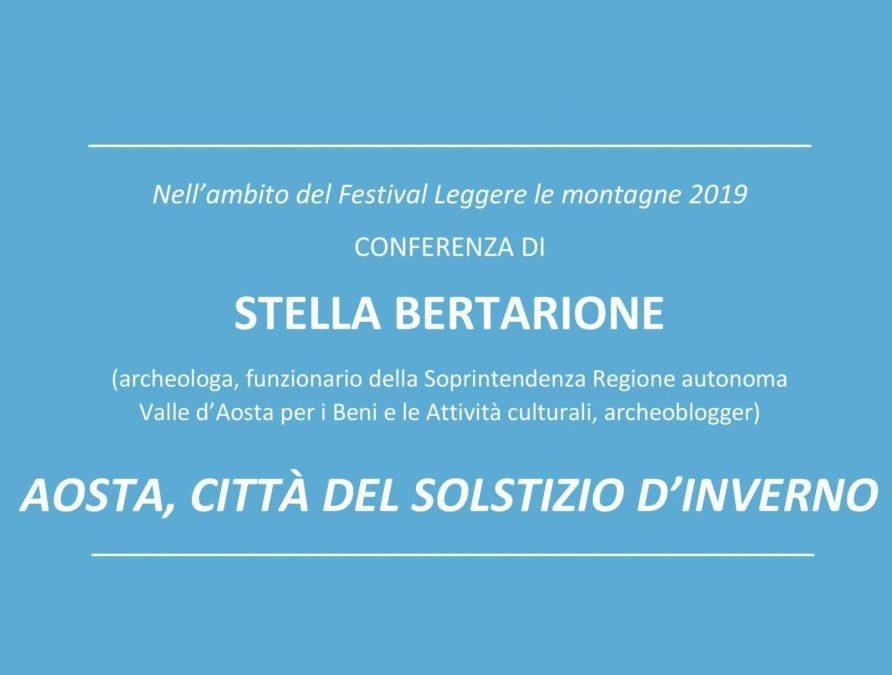 Festival Leggere le montagne 2019 – Conferenza di Stella Bertarione rinviata a data da destinarsi
